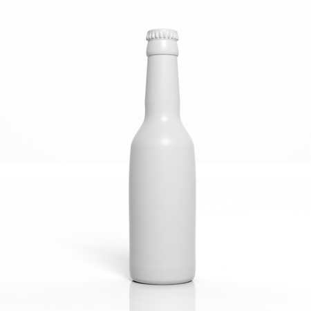 recycling bottles: 3D blank bottle mockup isolated on white
