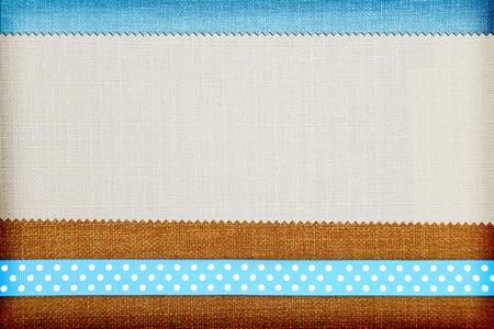 Decorative fabric background. Scrapbook, photobook concept Standard-Bild