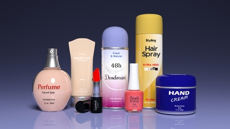 3D collection of beauty products
