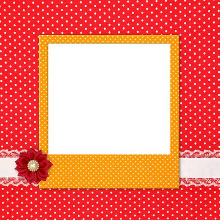 Cadre photo sur point de polka Banque d'images