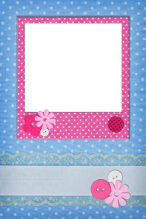 polka dots background: Photo frame on polka dot background