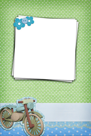 polka dot background: Stack of blank papers on polka dots background
