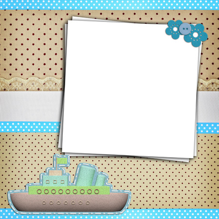 dot: Stack of blank papers on polka dots background