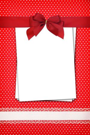 blank papers: Stack of blank papers on polka dots background