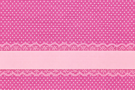 polka dot fabric: Pink retro polka dot textile background