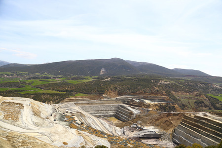 catastrophic: Mining site in the mountains