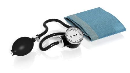 sphygmomanometer: Sphygmomanometer isolated on white background