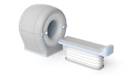 medical technical equipment: 3D illustration MRI scanner, isolated on white background