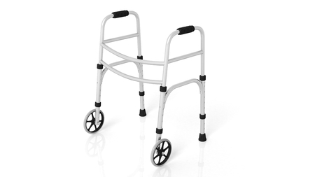 Rolling walker isolated on white background Stock Photo