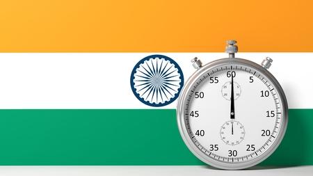 chronometer: Flag of India with chronometer