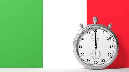 chronometer: Flag of Italy with chronometer