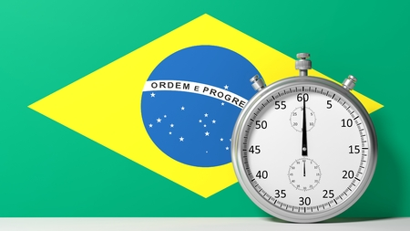 chronometer: Flag of Brazilian with chronometer