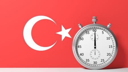 chronometer: Flag of Turkey with chronometer