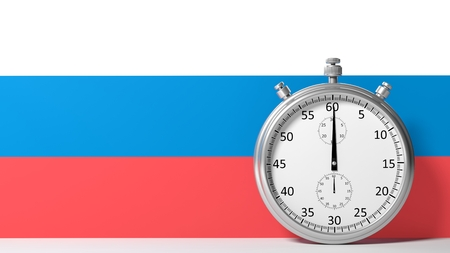 chronometer: Flag of Russia with chronometer