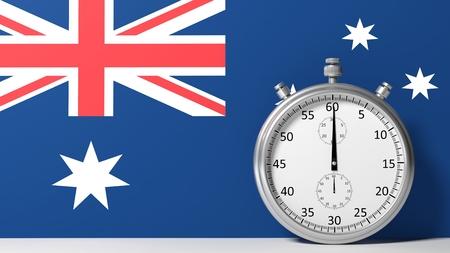 chronometer: Flag of Australia with chronometer
