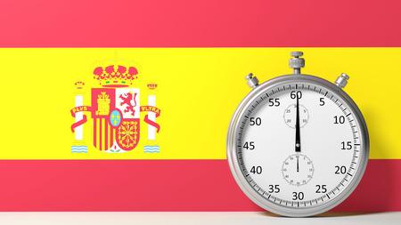 chronometer: Flag of Spain with chronometer