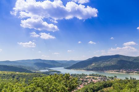 the river: Visegrad Hungary, Danube river