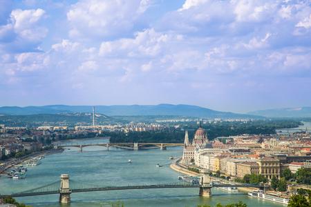 hungary: Budapest Hungary, Danube river Stock Photo