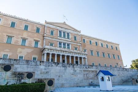 syntagma: Il Parlamento greco edificio in Piazza Syntagma, Atene Grecia