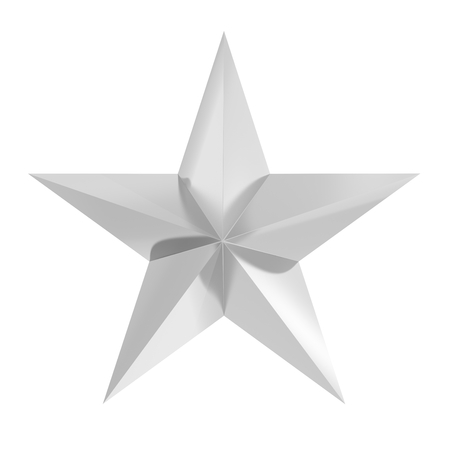 estrellas cinco puntas: Silver star icon,isolated on white background