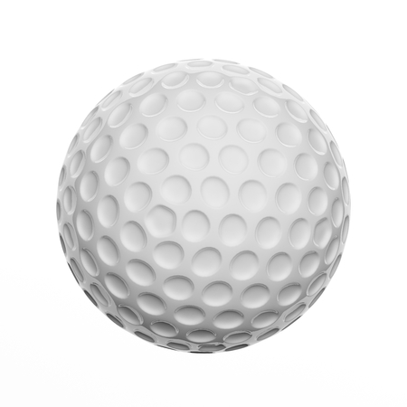 Golf ball, isolated on white background Banco de Imagens