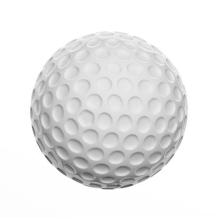 pelota de golf: pelota de golf, aislado en fondo blanco