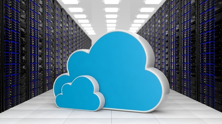 Datacenter with two Cloud storage symols