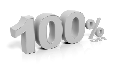 trade off: 100% 3D numbers,isolated on white background.