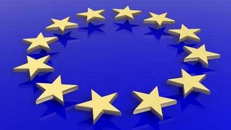 european culture: European Union flag background Stock Photo