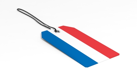 made in netherlands: Made in Netherlands price tag with national flag, isolated on white background.