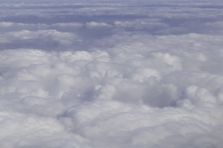 fluffy clouds: Aerial photography with white fluffy clouds