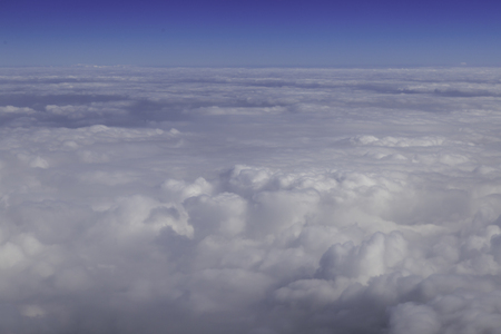 troposphere: Aerial photography blue skyline with clouds