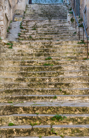 worn structure: Old weathered stairway background