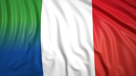 coalition: Close-up of French and Italian flags