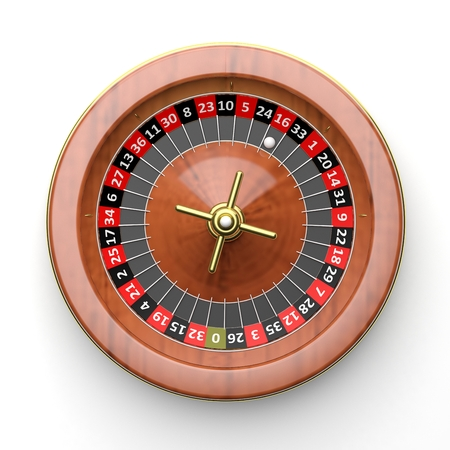 ardour: Roulette wheel on white background.From above