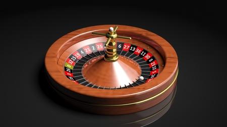ardour: Roulette wheel on black background.Isolated