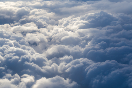 storm clouds: Fluffy storm clouds, aerial photography.
