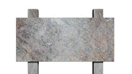 letreros: Blanco después camino de piedra, aislada en el fondo blanco.