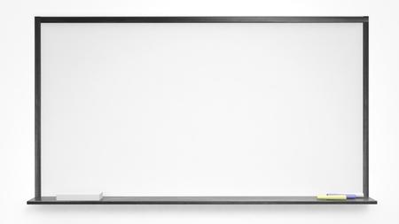 White blackboard on white background. Isolated 写真素材