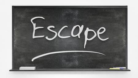 Escape written on blackboard