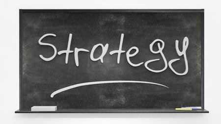systematic: Strategy written on blackboard