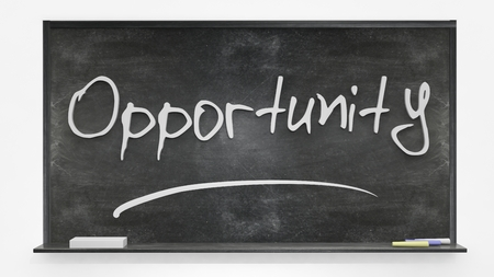 opportunity: Opportunity written on blackboard