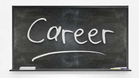 careerist: Career written on blackboard Stock Photo