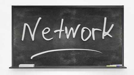 written: Network written on blackboard