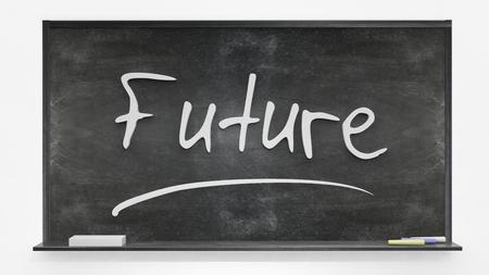 written: Future written on blackboard Stock Photo