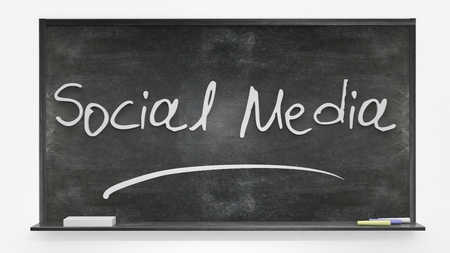 written: Social media written on blackboard