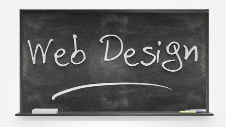 written: Web design written on blackboard Stock Photo