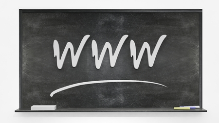 WWW written on blackboard