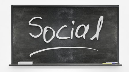 written: Social written on blackboard