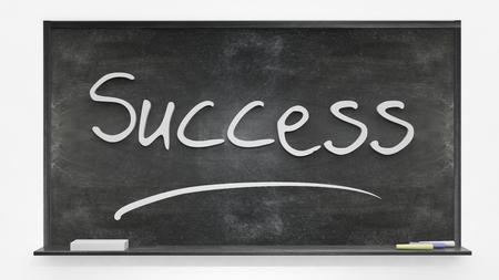 written: Success written on blackboard